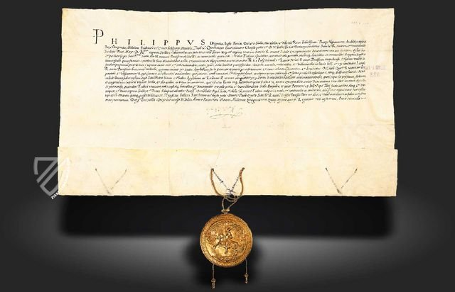 Oath of Loyalty sworn to Pope Paul IV by Philip II on his investiture as King of Sicily